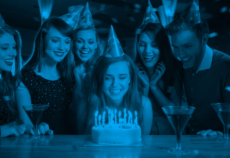 Verjaardag Blauw
